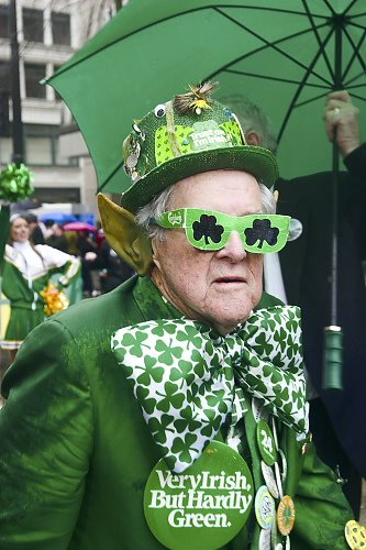 A St Patrick's Day celebrant of the AOH-approved variety