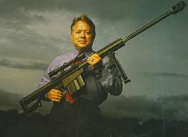 Ken Barrett, owner of the company that produces the Barrett Light Fifty advocates unrestricted ownership of his deadly weapon in America.