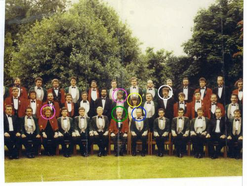 The Force Research Unit - Photographed  Circa 1982 At A Sergeants Mess Evening WIth Commanding Officer Col Gordon Kerr