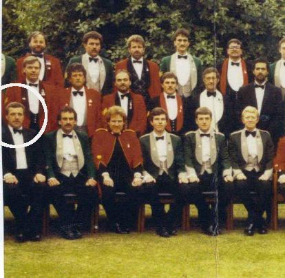 Peter Charles Jones, first handler of Steaknife, circled in white.