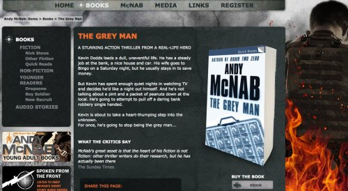 'Kevin Dodds' becomes an Andy McNab character