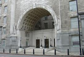 """Abandon Hope All Ye Who Enter' - the entrance to MI5's London headquarters"