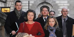 Pat Finucane's family, led by his widow Geraldine