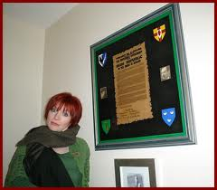 In her red hair phase, late 1990's. I believe Joe Graham may have taken this pic. She suited red hair.