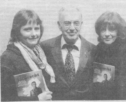 Marian Price on the left, with Ruairi O Bradaigh and Dolours Price at the publication of O Bradaigh's biography of Tom Barry, 'Dilseacht'