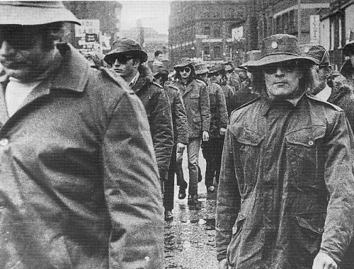 UDA members parade in North Belfast in the early 1970's