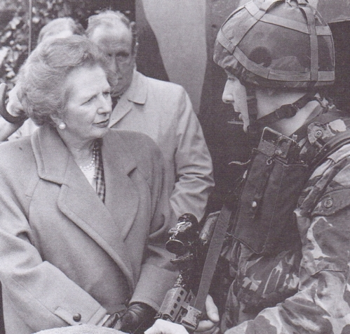 Margaret Thatcher meets her troops in Northern Ireland
