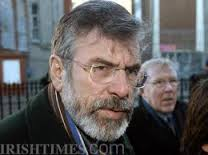 Gerry Adams headed the committee which O'Rawe says rejected the British offer.