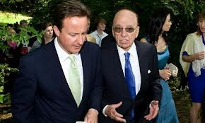 David Cameron with buddy Rupert Murdoch