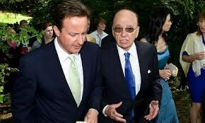 David Cameron with buddy Rupert Murdoch
