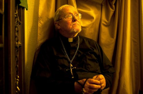 Fr. Pat Moloney, in a photo taken by The New York Times