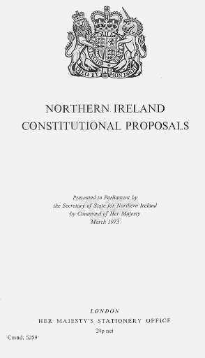 A British White Paper on the future of Northern Ireland accepted that the irish dimension, in practce a Council of Ireland, would be on the agenda for political talks. Securing this pledge lay behind Lynch's reluctance to confront Britain over MI6's espionage in Ireland.