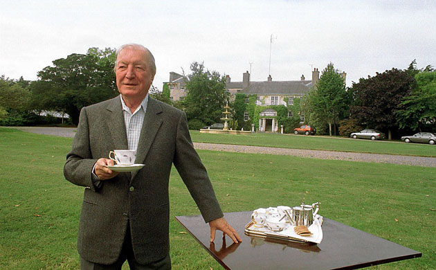Haughey in the grounds of his beloved Abbeville