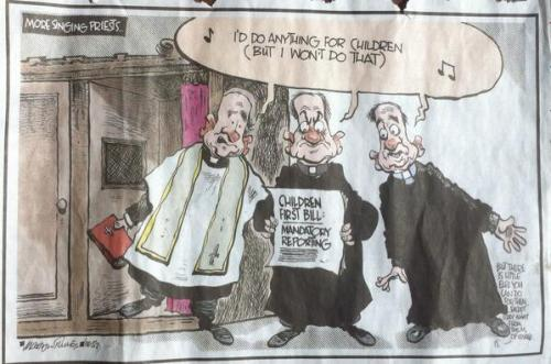 The Martyn Turner cartoon that was censored by The irish Times following complaints from the Archbishop of Dublin.