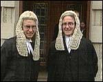 Seamus Treacy, on the right, pictured after he made silk at the NI bar. He is now a High Court judge......