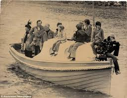 Mounbatten on his boat with friends on a happier day