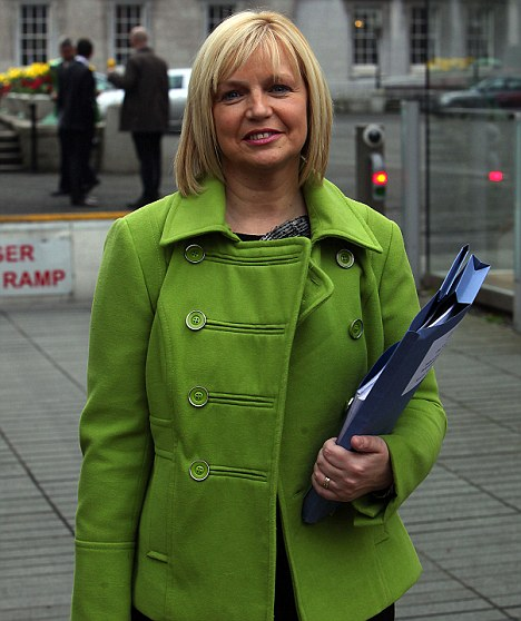 Sinn Fein TD for East Cork, Sandra McLellan at Leinster house on Kildare Street, Dublin.