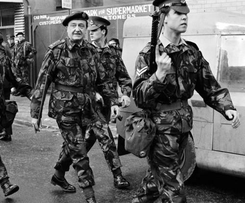 General Harry Tuzo, with escorts, circa 1972