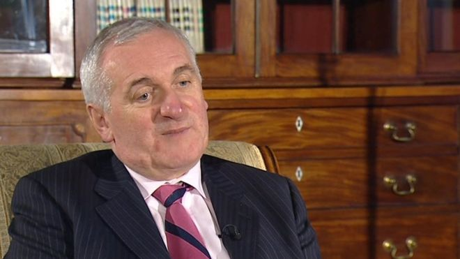 Former Taoiseach Bertie Ahern. Co-ordinated NI policy with McDowell and now claims that the IRA was to remain 'unarmed'.