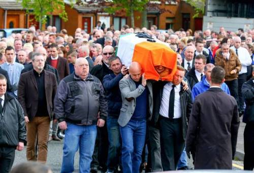 Jock Davison's funeral in Belfast attracted a significant contingent of IRA mourners.