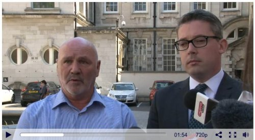 Alex Maskey and Niall O Donnaghail - The two faces of Sinn Fein with the same warning to the media: don't be unhelpful!