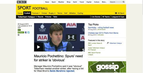 This is what Pochettino said on August 20th