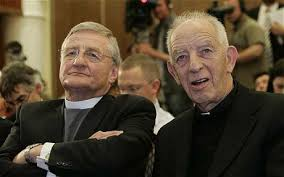 Fr Alex Reid (right) and Rev Harold Good. Witnesses to IRA decommissioning gave an account to Paisley at odds with their public statement