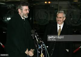 Richard McAuley, inseparable press aide to Gerry Adams outside Downing Street