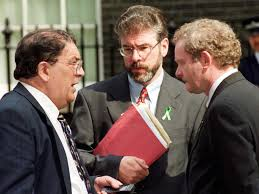 John Hume with Gerry Adams and Martin McGuinness - Sindo's attacks helped forge pan-Nationalism and dampen Provo grassroots doubts