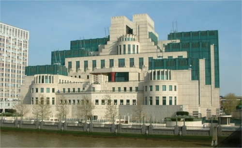 MI6 Headquarters on the south bank of the River Thames