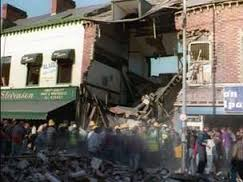Shankill locals claw through the rubble of Frizzels fishmongers in search for survivors