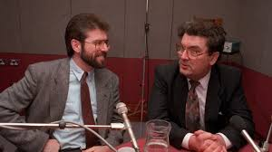 John Hume and Gerry Adams meet in a BBC radio studio