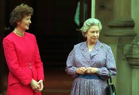 President Mary Robinson and Queen Elizabeth meet in London