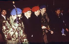 Peter Robinson leads an Ulster Resistance march in Portadown, Co Armagh