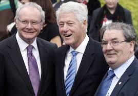 Bill Clinton and two Irish friends