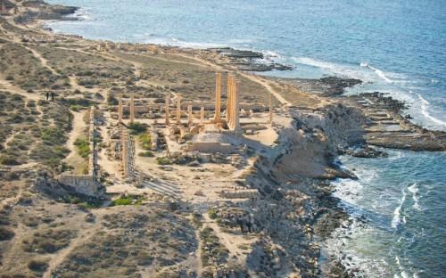 Roman columns at Sabratha
