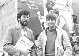 Gerry Adams and Martin Galvin in younger, happier days