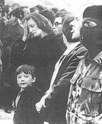 Bobby Sands' son, Robert Gerard at his father's funeral