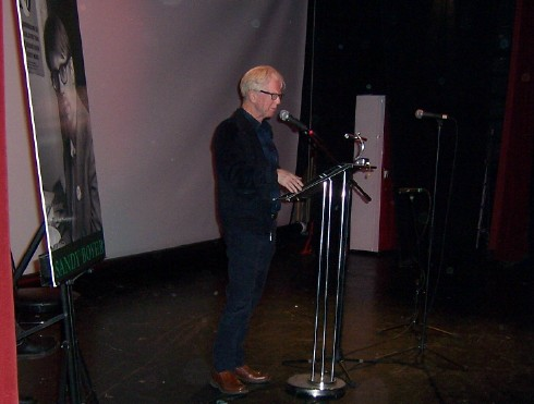 Larry Kirwin, formerly of Black 47 gave a moving version of 'The Patriot Game' at Sandy's memorial