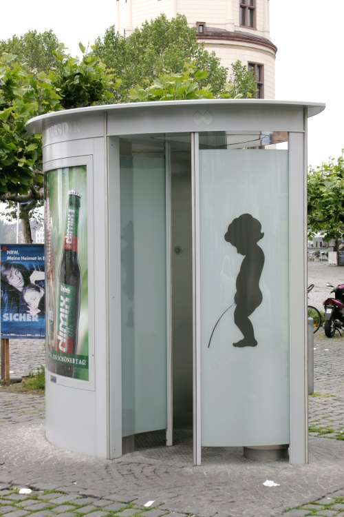 A public toilet in Dusseldorf, Germany