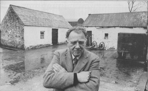 Harry White, pictured in the Cavan farmhouse where 1942 he escaped Free State special branch men