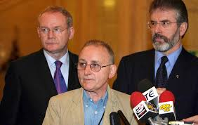 Denis Donaldson with two friends