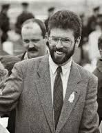 Gerry Adams at a republican commemoration, Easter 1993