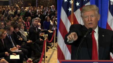 Trump berates CNN reporter Jim Acosta, accusing him of being 'fake news' and refused to take a question from him. He instead turned to a reporter from Breitbart..