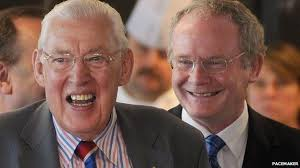 The Chuckle Brothers - this is the media's preferred image of Martin McGuinness, in happy alliance with Ian Paisley