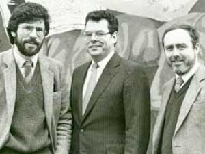 Peter King meets Gerry Adams and Danny Morrison in Belfast in 1984