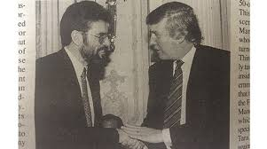 Donald Trump meets Gerry Adams at a New York fundraiser in 1995